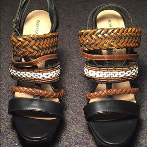 Boston Proper Multicolored Strappy Sandal Heel
